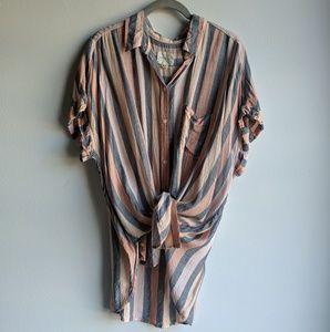 Tops - AE Striped Button Down Shirt